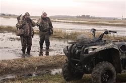 Let's face it, if waterfowlers can get another couple dozen goose or duck fakes in their hunting location, they will. Your Yamaha ATV or Side-by-Side will help you set those monster decoy spreads. Those four wheels will get you there and back. (Yamaha Outdoors photo)